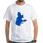 Map with PMS 293 Color White T-Shirt