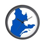 Map with PMS 293 Color Wall Clock