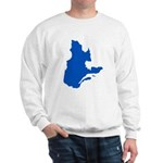Map with PMS 293 Color Sweatshirt