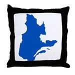 Map with PMS 293 Color Throw Pillow