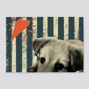 cute dog lover puppy 5'x7'Area Rug