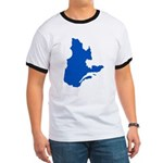 Map with PMS 293 Color Ringer T