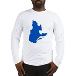 Map with PMS 293 Color Long Sleeve T-Shirt