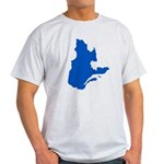 Map with PMS 293 Color Light T-Shirt