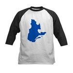 Map with PMS 293 Color Kids Baseball Jersey
