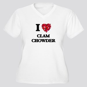 I love Clam Chowder Plus Size T-Shirt