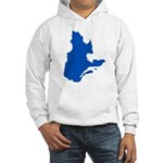 Map with PMS 293 Color Hooded Sweatshirt