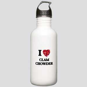 I love Clam Chowder Stainless Water Bottle 1.0L