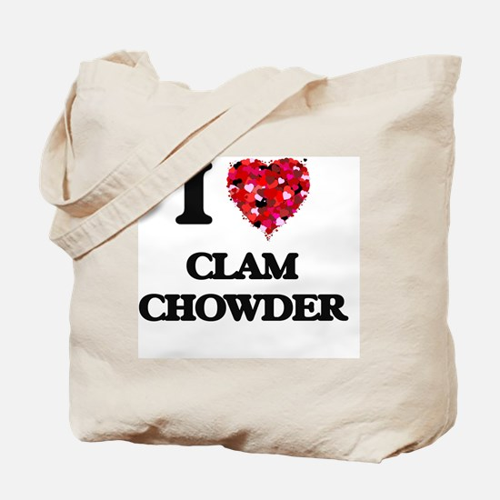 I love Clam Chowder Tote Bag
