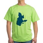 Map with PMS 293 Color Green T-Shirt