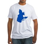 Map with PMS 293 Color Fitted T-Shirt