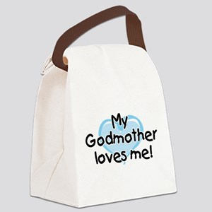 My Godmother loves me bl Canvas Lunch Bag