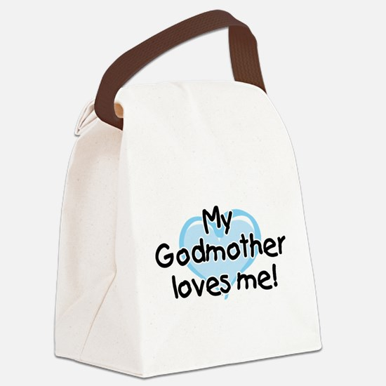 My Godmother loves me (bl) Canvas Lunch Bag
