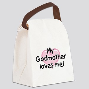My Godmother loves me pk Canvas Lunch Bag