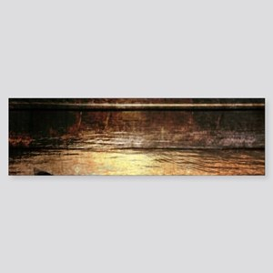 rustic country lake canoe Bumper Sticker