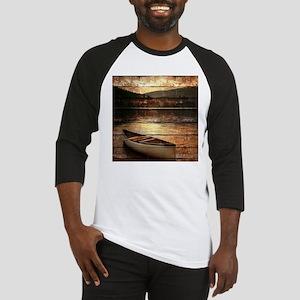 rustic country lake canoe Baseball Jersey