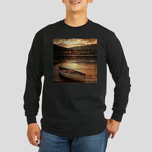 rustic country lake canoe Long Sleeve T-Shirt