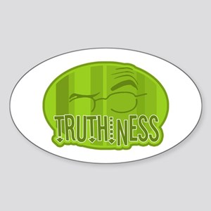 Truthiness 2 Oval Sticker