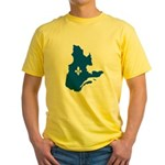 Map with Lys PMS 293 Color Yellow T-Shirt