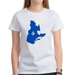 Map with Lys PMS 293 Color Women's T-Shirt