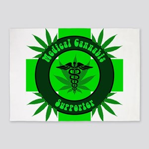 Medical Cannabis Supporter 5'x7'Area Rug