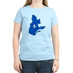 Map with Lys PMS 293 Color Women's Light T-Shirt