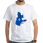 Map with Lys PMS 293 Color White T-Shirt