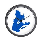 Map with Lys PMS 293 Color Wall Clock