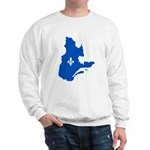 Map with Lys PMS 293 Color Sweatshirt