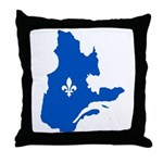 Map with Lys PMS 293 Color Throw Pillow