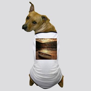 rustic country lake canoe Dog T-Shirt