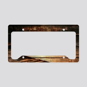 rustic country lake canoe License Plate Holder