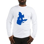 Map with Lys PMS 293 Color Long Sleeve T-Shirt
