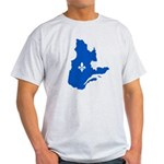 Map with Lys PMS 293 Color Light T-Shirt