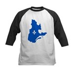 Map with Lys PMS 293 Color Kids Baseball Jersey