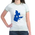 Map with Lys PMS 293 Color Jr. Ringer T-Shirt