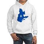 Map with Lys PMS 293 Color Hooded Sweatshirt