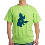 Map with Lys PMS 293 Color Green T-Shirt