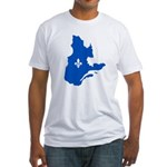 Map with Lys PMS 293 Color Fitted T-Shirt