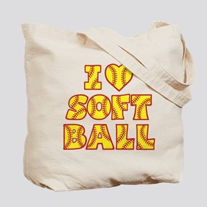 LOVE SOFTBALL Tote Bag