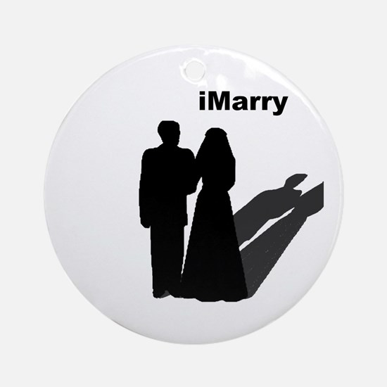 iMarry Ornament (Round)