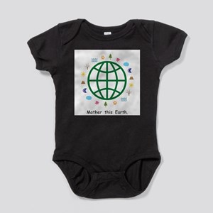 Mother this Earth Gifts Globe Baby Bodysuit