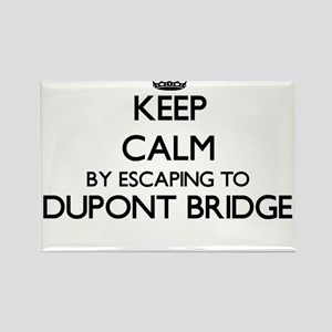 Keep calm by escaping to Dupont Bridge Flo Magnets