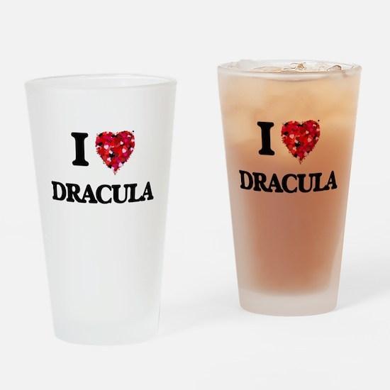 I love Dracula Drinking Glass