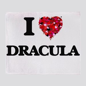 I love Dracula Throw Blanket