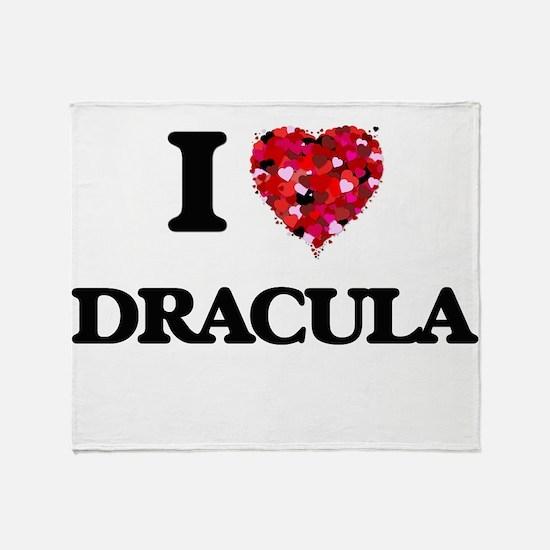 I love Dracula Throw Blanket