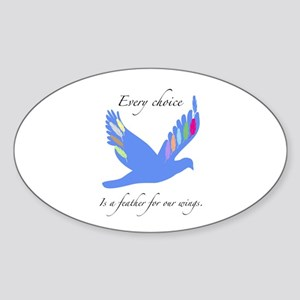 Feathers For Wings Gifts Sticker