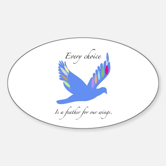 Feathers For Wings Gifts Decal