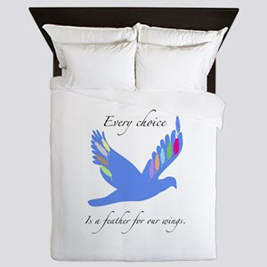 Feathers For Wings Gifts Queen Duvet