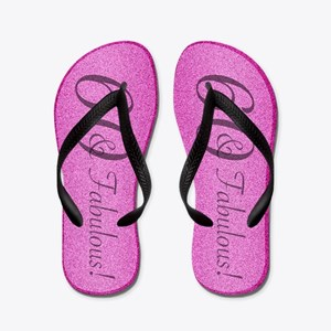 60th Birthday Fabulous Flip Flops